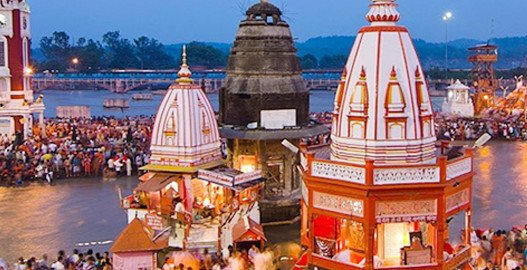 Brahma Kund at Haridwar, char dham yatra, char dham yatra package, char dham yatra package cost, chardham tour packages, luxury bus service in delhi, Kempty Fall, Kashi Vishwanath temple, Alaknanda in Devprayag, volvo bus booking, bus hire in delhi, bus on rent, Coach for rent, Tempo traveller for rent